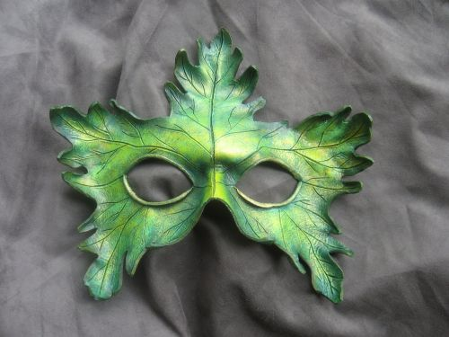 Small Oak Greenman Mask