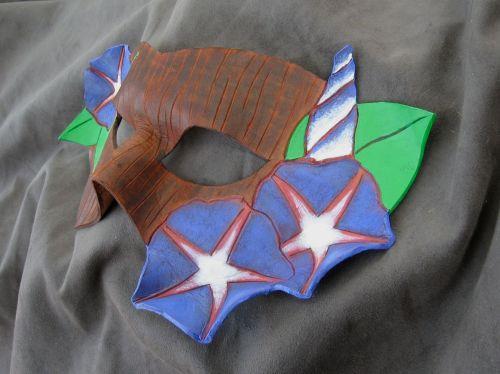Morning glory leather mask